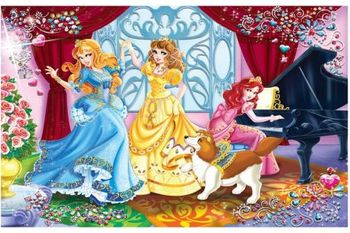 09002 Clementoni Princesses: play and dance-104pcs