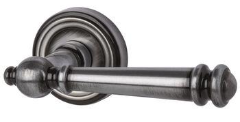 Дверная ручка на розетке Mount Everest хром сатин с черной патиной
