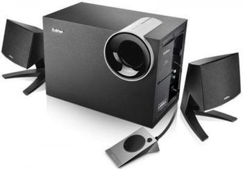 "Edifier P2060  Black, 2.1/ 14W+ 2x8W RMS, with USB input for MP3 audio filles, all wooden, (sub.5"" + satl. 2,75"")"