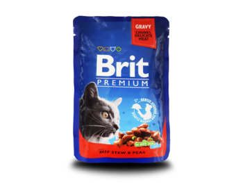 купить Brit Premium Cat Pouches with Beef Stew & Peas (Кусочки с рагу из говядины и горошком) в Кишинёве