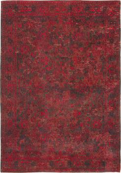 Ковёр ручной работы LOUIS DE POORTERE Fading World Grey Red 8940