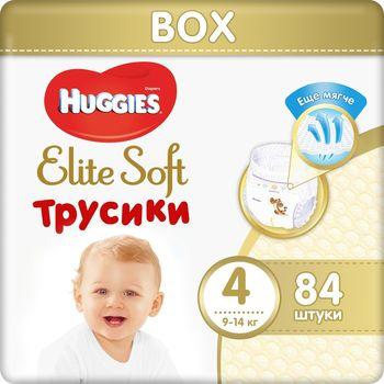 Трусики Huggies Elite Soft Mega 4 (9-14 kg), 84 шт. BOX