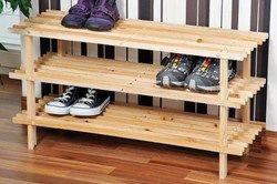 купить Kesper Полка для обуви 3 ярусная деревянная 77х26х40см 69723 в Кишинёве