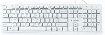 """Gembird KB-MCH-03-W-RU """"Chocolate"""" Multimedia, Slimline keyboard with """"chocolate"""" type keys, USB, White"""