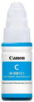 Ink Bottle Canon GI-490 C, cyan, 70ml for PIXMA G1400/G2400/G3400