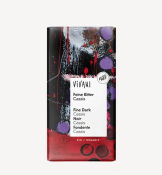 Темный шоколад с черной смородиной 100г