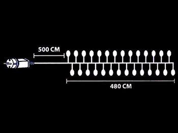 """купить Огни новогодние """"густые"""" 480 микро LED, разноцв, 4.8m, прозр в Кишинёве"""
