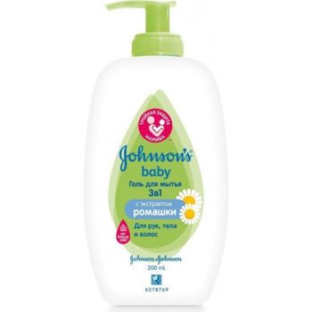 купить Johnson`s Baby Гель для мытья 3 в 1, 200 мл в Кишинёве
