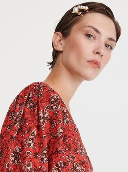Блуза RESERVED Красный с принтом