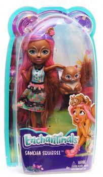 Кукла Enchantimals с питомцем - Санча Белка, 15 см, код FMT61