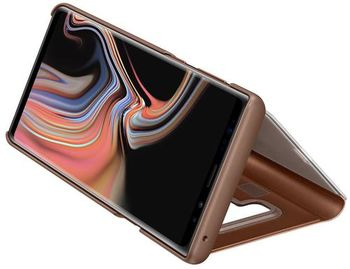 купить Чехол для моб.устройства Samsung EF-ZN960, Galaxy Note 9, Clear View Standing Cover, Brown в Кишинёве