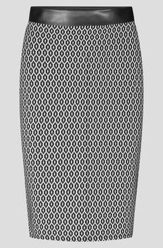 Юбка ORSAY Черно-белый 745132