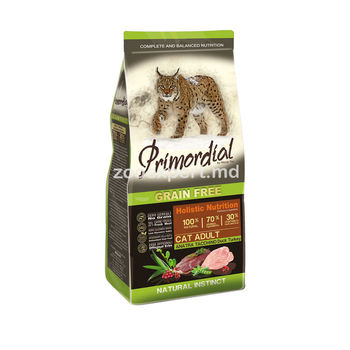 купить Primordial Holistic Cat Adult утка и индейка 1 kg ( развес ) в Кишинёве