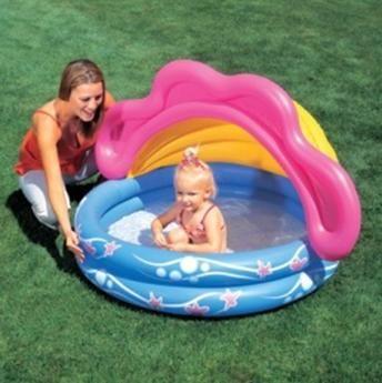 купить Bestway детский бассейн с защитой от солнца, D-142, H-86 см в Кишинёве