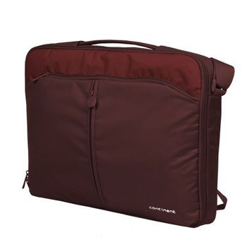 "CONTINENT NB bag 15.6"" - CC-02 Cranberry, Clamshell"