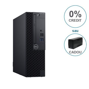 DELL OptiPlex 3060 SFF lnteI® Core® i3-8100 (Quad Core, 3.60GHz, 6MB), 8GB DDR4 RAM,1TB HDD, DVD-RW, lnteI® UHD630 Graphics, TPM, 200W PSU, USB mouse, USB KB216-B, Ubuntu, Black