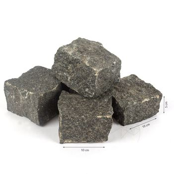 купить Кубик Камень Гранит Серый Антрацит Натуральный 10 х 10 х 5 см в Кишинёве