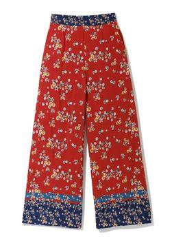 Pantaloni RESERVED Rosu cu imprimeu uy698