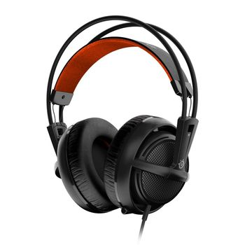 STEELSERIES Siberia 200 / Gaming Headset with retractable Microphone, on the cord volume control, 50mm neodymium drivers, Comfortable, Lightweight, Cable lenght 1.8 m, 3.5mm jack, Black