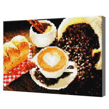 Утренний кофе, 30x40 см, алмазная мозаика QS200365
