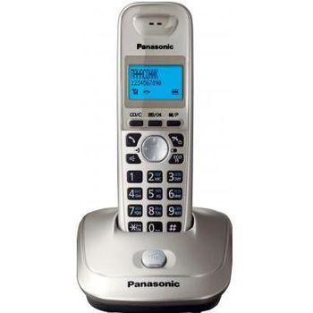 Telephone Dect Panasonic KX-TG2511UAN, Platinum, AOH, Caller ID, LCD, Sp-phone (журнал на 50 вызовов), спикерфон на трубке, телефонный справочник (50 записей), полифонические мелодии звонка, кириллица на дисплее, время/дата на дисплее