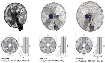 купить Осевой вентилятор EC600001 с функцией поворота в Кишинёве