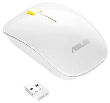 Wireless Mouse Asus WT300, White / Yellow