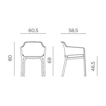 Кресло Nardi NET ANTRACITE 40326.02.000.06 (Кресло для сада и террасы)