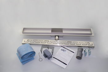 купить Трап водоотвод. линейный dn 50 x 90° ZIPPER (Змейка) FLH40-A2 С03 - 500 х 70 комплект в Кишинёве