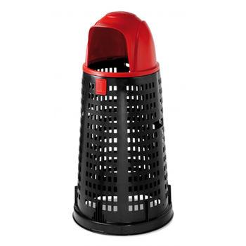 cumpără Tomberon Bobby 100 l, negru cu capac roşu în Chișinău