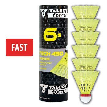 """Воланчик для бадминтона """"Fast"""" (нейлон, пробка) Talbot Torro Tech450 469083 yellow-red (4693)"""