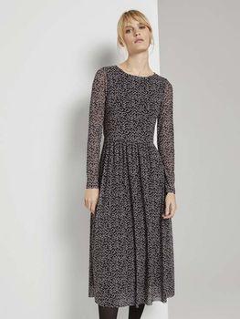Платье TOM TAILOR Черный с принтом 1023588 tom tailor