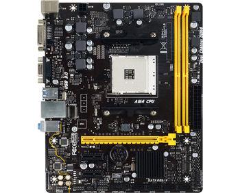 Biostar A320MD PRO, Socket AM4, AMD A320, Dual 2xDDR4-2667, APU AMD graphics, DVI, VGA, 1xPCIe X16, 4xSATA3(6Gb/s), RAID, 2xPCIe X1, ALC887 7.1ch HDA, GigaBit LAN, 4xUSB3.1, 95W, mATX