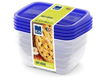 Набор емкостей пищевых Vedo 4шт, 0.75l, 15.5X11.5X7.5cm