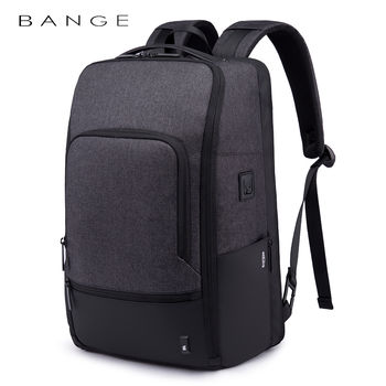 купить Pюкзак Bange BG-K82 для ноутбука 15.6'', с USB портом, водонепроницаемый, cерый в Кишинёве