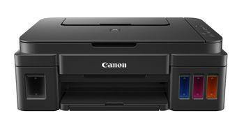 Printer Canon Pixma G1400, A4, Print 4800x1200dpi_2pl, ESAT 12.2/8.7 ipm, 64-275g/m2, LCD display_6.2cm, USB 2.0, 4 ink tanks: GI-490BK,GI-490C,GI-490M,GI-490Y