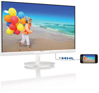 купить 27.0$amp;quot;  PHILIPS IPS LED 274E5QHAW Glossy White в Кишинёве