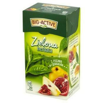 Чай зеленый Big Active with Quince & Pomegranate, 20 шт