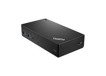 Lenovo ThinkPad Pro USB 3.0 Dock (3xUSB3.0, 2xUSB2.0, LAN, DVI (DVI-VGA adapter in set), DP, Power,  Audio, Black)