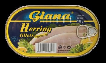 Hering file in ulei vegetal Giana 170 gr