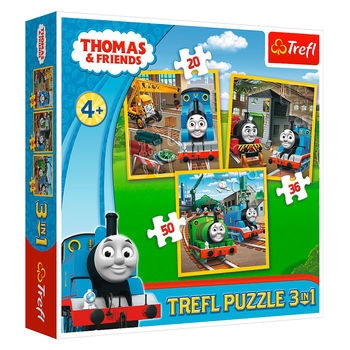 """Пазлы """"3in1"""" - """"Thomas goes into action"""", код 41689"""