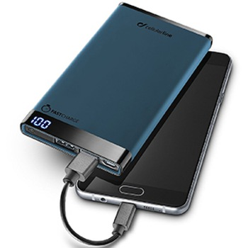cumpără Cellularline Power Bank, 6000mAh, slim, Blue în Chișinău