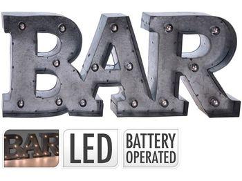 "Световая фигура подвесная ""Bar"" LED 47X17cm, металл, серый"