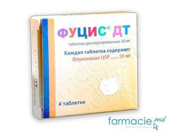 купить Фуцис ДТ, шипучие таблетки 50мг N4 (Флуконазол) в Кишинёве