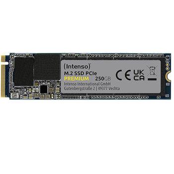 Внутрений высокоскоростной накопитель 250GB SSD NVMe M.2 Type 2280 Intenso Premium (3835440), Read 2100MB/s, Write 1100MB/s
