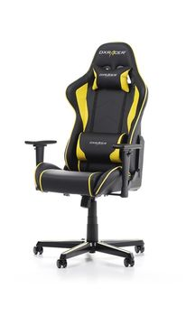 Gaming Chairs DXRacer - Formula GC-F08-NY-H1, Black/Black/Yellow - PU leather, Gamer weight up to 100kg / growth 145-180cm, Foam Density 52kg/m3, 5-star Aluminum IC Base, Gas Lift 4 Class, Recline 90*-135*, Armrests: 3D, Pillow-2, Caster-2*PU, W-23kg
