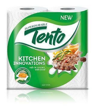 Полотенца бумажные TENTO Kitchen Innovations 3 слоя 17м*2