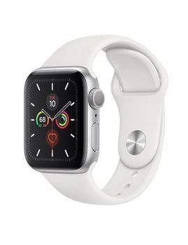 купить Apple Watch Series 5 44mm/Silver Aluminium Case With White Sport Band, MWVD2 GPS в Кишинёве