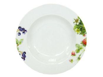 Тарелка 19cm десертная ягоды, фарфор