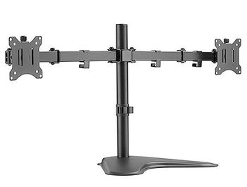 "Brateck LDT42-T024 Dual Monitors Steel Articulating Monitor Stand, for 2 monitors, Stand-on, 17""-32"", +45"